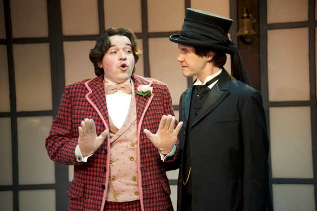 James Carpenter (left) as Algernon Moncrieff and Brian Keith MacDonald (right) as John Worthing in The Importance of Being Earnest