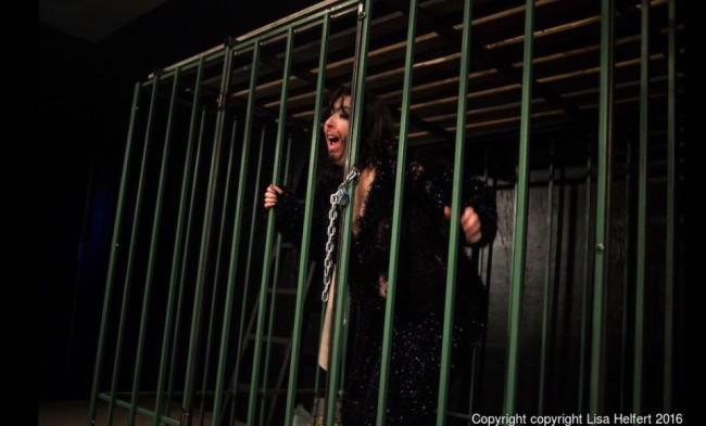 Artistic Director Deborah Randall as Citrona in Fur at Venus Theatre