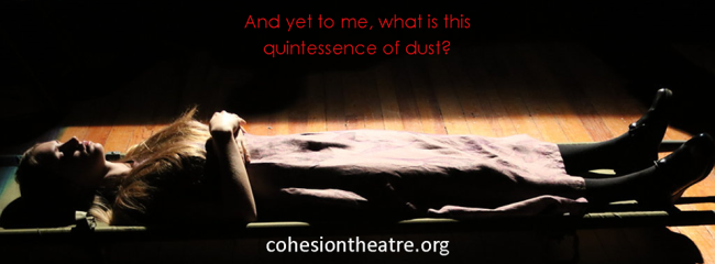 Sarah Lamar as Ophelia in Hamlet at Cohesion Theatre Company