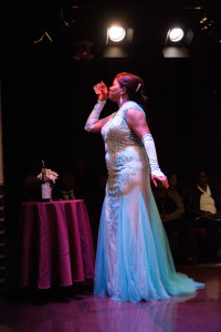Anya Randall Nebel as Billie Holiday in Lady Day at Emerson's Bar & Grill