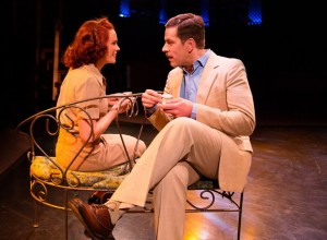 Teresa Danskey (left) as Nellie Forbush and Russell Rinker (right) as Emile de Becque in South Pacific