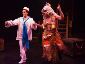 Teresa Danskey (left) as Nellie Forbush and Jeffrey Shankle (right) as Billis in South Pacific
