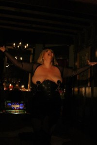 Tapitha Kix performing at Res-Erection by Twisted Knickers Burlesque