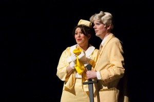 Christina Napp (left) as Mrs. Mayor and Jeff Baker (right) as Mr. Mayor in Seussical! The Musical
