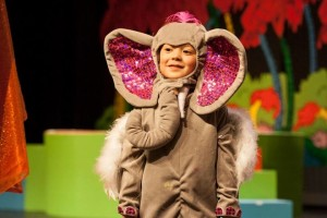Parker Napp as The Elephant Bird in Seussical The Musical at Charm City Players