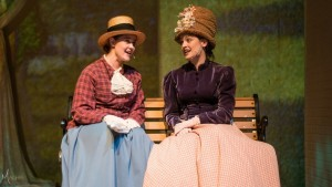 Amy M. Tucker and Gina Dzielak as Celeste and Celeste in Sunday in the Park with George
