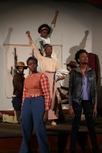 Ensemble members of Harry & The Thief at Strand Theater Company