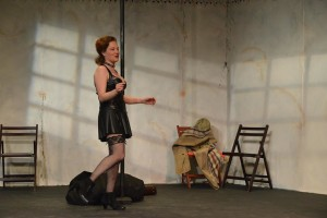 Anne Shoemaker as Vanda in Venus in Fur at Fells Point Corner Theatre