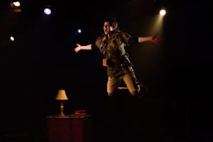 MaryKate Brouillet as Peter Pan in Peter Pan at Toby's Dinner Theatre of Columbia