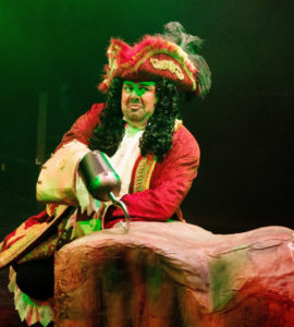 David Bosley-Reynolds as Captain Hook in Peter Pan at Toby's Dinner Theatre of Columbia