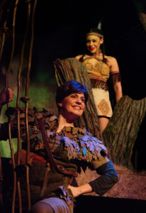 MaryKate Brouillet (below) as Peter Pan and Amanda Leigh Corbett (above) as Princess Tiger Lily in Peter Pan at Toby's Dinner Theatre