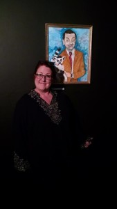 """Baltimore Artist Alix Tobey Southwick at Stillpointe Theatre for her gallery exhibition """"Imaginary Friends"""""""