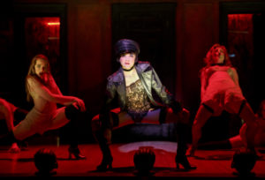 (L to R) Sarah Bishop as Helga, Andrea Goss as Sally Bowlesand Alison Ewing as Fritziein the 2016 National Tour of Roundabout Theatre Company's CABARET