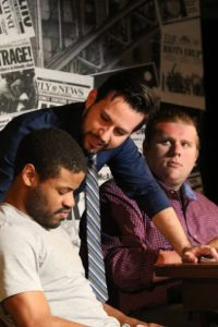 Terrence Fleming (left) as Dece, Glen Haupt (center) as Hudson and Bobby Henneberg (right) as Flip in Force Continuum