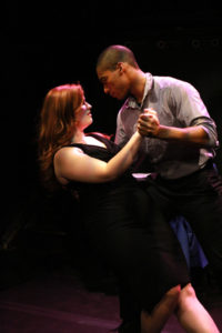Jessie Pool (left) as Annabelle and Tim German (right) as Clyde in Letters, by Justin Lawson Isett