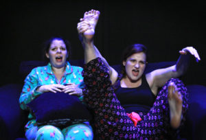 Erin Hanratty (left) as Laura and Jessie Pool (right) as Melissa in Pretty Like Normal by Jen Diamond