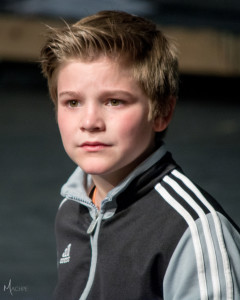 Judah Latshaw, playing Flounder in Milburn Stone Theatre's The Little Mermaid