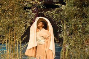 Randi Seepersad as Wife in Rashomon at Performing Arts CCBC Academic Theatre