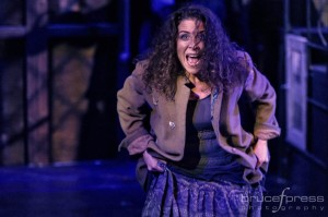 Santina Maiolatesi as The Beggar Woman in Sweeney Todd at Red Branch Theatre Company