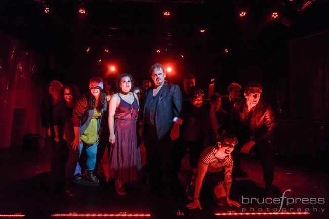 The company of Sweeney Todd: The Demon Barber of Fleet Street at Red Branch Theatre Company