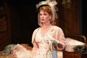 Beth Hylton as Blanche DuBois in A Streetcar Named Desire at Everyman Theatre