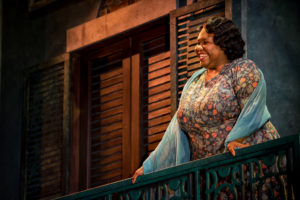 Kelli Blackwell as The Vocal Performer in A Streetcar Named Desire at Everyman Theatre