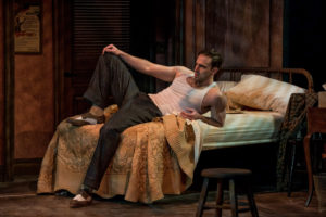 Danny Gavigan as Stanley Kowalski in A Streetcar Named Desire at Everyman Theatre