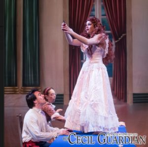 Carl Pariso (left) as Prince Eric and Karalyn Joseph (right) as Ariel in The Little Mermaid at Milburn Stone Theatre