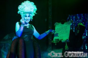 Nance Weber as Ursula in The Little Mermaid at Milburn Stone Theatre