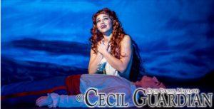 Karalyn Joseph as Ariel in The Little Mermaid at Milburn Stone Theatre