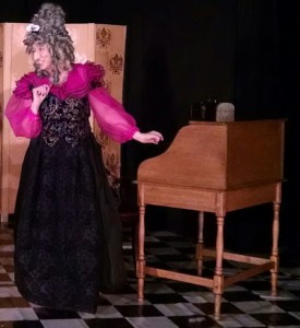 Helenmary Ball as Madame Frosine (disguised) in The Miser at Twin Beach Players