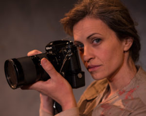 Claire Carberry as Sarah in Time Stands Still at Fells Point Corner Theatre