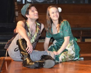 Brendan Kennedy (left) as Florizel and Kathryn Zoerb (right) as Perdita in The Winter's Tale