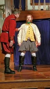 David Forrer (left) as Antigonus and Conrad Deitrick (right) as Camillo in The Winter's Tale
