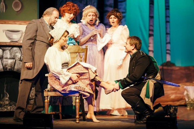 Megan D'Alesandro (front left) as Cinderella and Jim Gerhardt (front right) as Cinderella's Prince with the Royal Step-Family (L to R Bob Hilton, Heidi Toll, Laura Toll Marchiano, and Jennifer Toll)