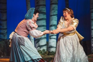 Barbara Hartzell (left) as The Baker's Wife and Megan D'Alesandro (right) as Cinderella in RTP's Into the Woods