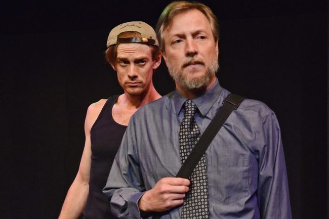 "David Shoemaker (left) as Scott and Gareth Kelly (right) as Mark in ""Monument"" by Mark Scharf"