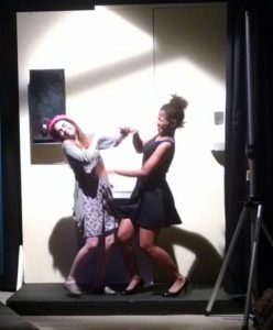 Anastasia Johns (left) as Kendra and Anike Sonuga (right) as Lucy in 13: The Musical