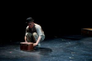 Mark Jaster as Ralph in BrouHaHa at Happenstance Theater on the stage of The Baltimore Theatre Project