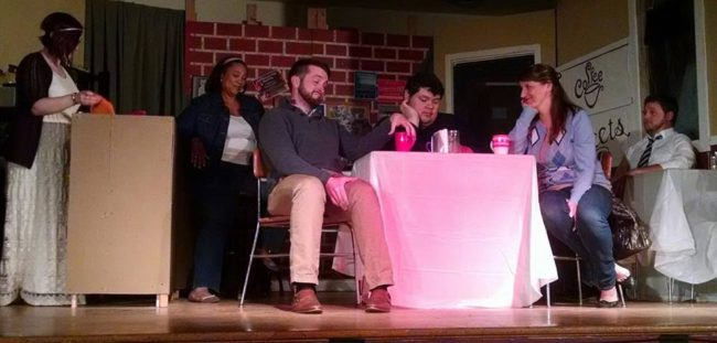 The cast of The Coffee Shop by Davis Gables at Just Off Broadway