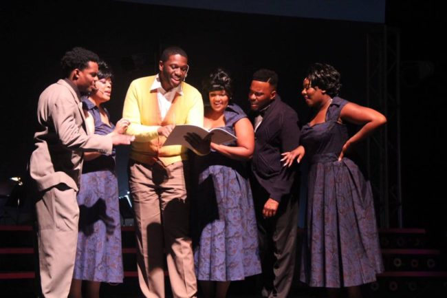 "C.J. Faulk as Jimmy ""James Thunder"" Ealy in Dreamgirls at Tantallon Community Players"