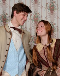 Gino Cardoni (left) as Laurie and Sheery Benedek (right) as Jo in Little Women
