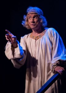 David James as Prince Herbert in Spamalot at Toby's Dinner Theatre