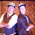 David Jennings (left) as Doug and Justin Calhoun (right) as Bud in Gutenberg! The Musical