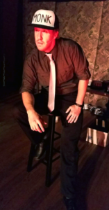 Justin Calhoun as Monk in Gutenberg! The Musical