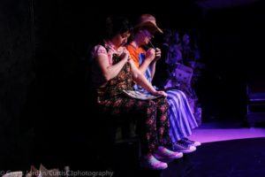 Deborah Randall (left) as Scuzzy and Jay Hardee (right) as Belly in Garbage Kids at Venus Theatre