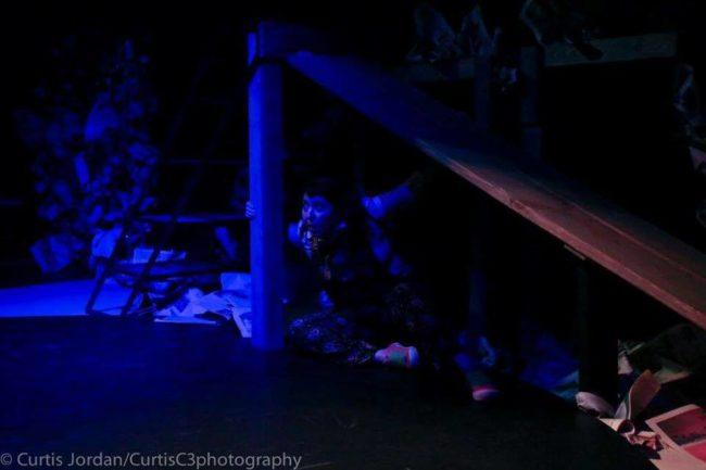 Deborah Randall as Scuzzy in Garbage Kids at Venus Theatre