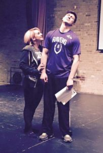 Hannah Thornhill (left) and Jamie Austin Jacobs (right) rehearsing for The Wedding Singer at ASGT