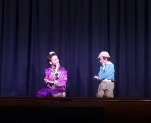 Alexander Fraiser (left) as Prince Chulalongkorn and Finn Smith (right) as Louis in The King & I at St. Gabriel's Miracle Players