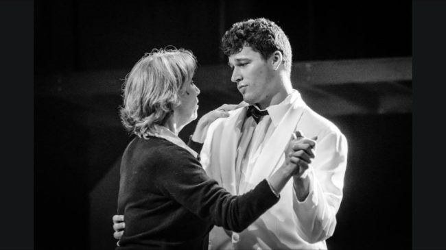Susan Schindler (left) as Diana and Danny Bertaux (right) as Gabe in Next to Normal